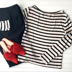 GAP The Essential Stripe Tee | size XL